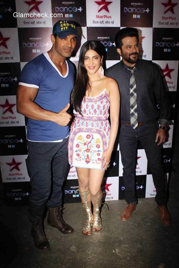 John Anil and Shruti Haasan promote 'Welcome Back' on Dance Plus
