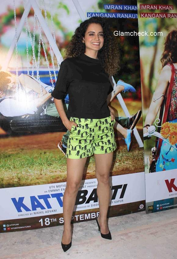 Kangana Ranaut in Shorts 2015