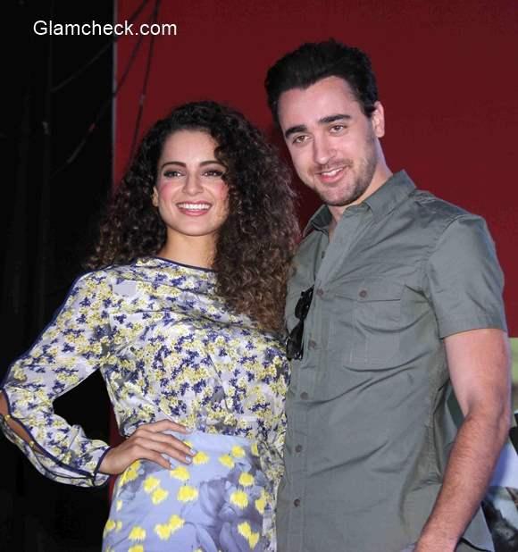 Kangana and Imran at Sophia College to promote film Katti Batti