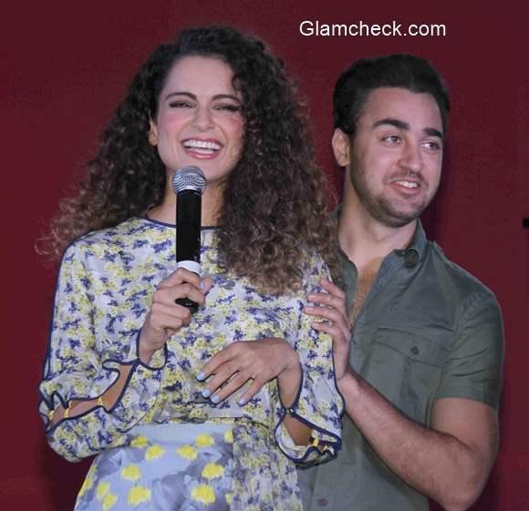 Kangana and Imran visit Sophia College to promote film Katti Batti