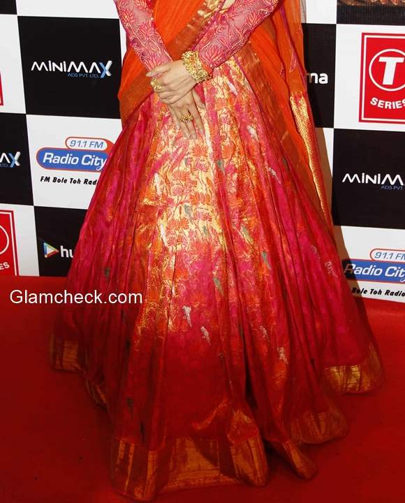 Neeta Lulla lehenga Orange - Festive Fashion Inspiration
