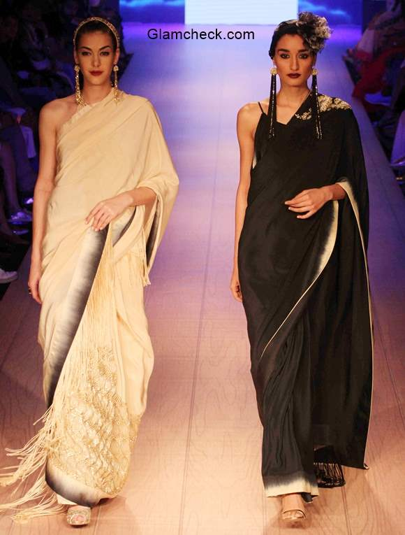Plain Sarees - Styling for the Festive Season