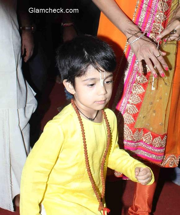 Shilpa Shetty Along With Her Son Viaan At Iskcon Temple