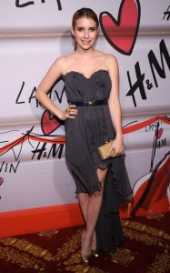 Emma Roberts at the launch of Lanvin for H&M