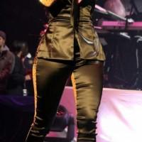 Nicki Minaj shocks in two-faced suit