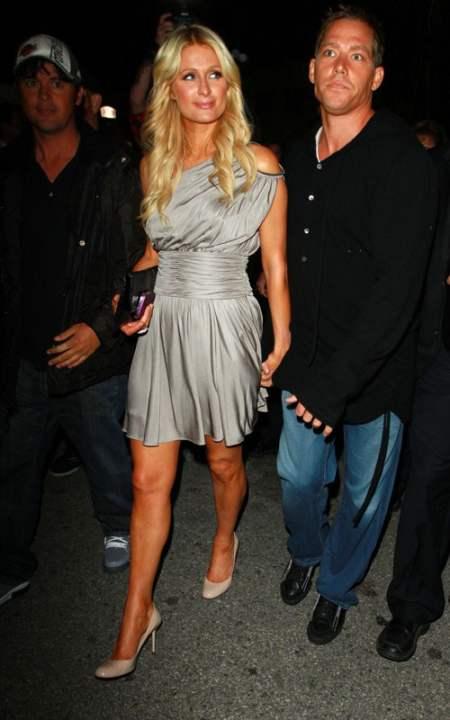 Paris Hilton with Cy