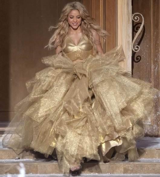 Shakira shoots Freixenet Champagne Ad
