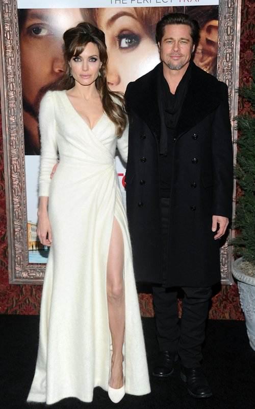 Angelina Jolie Brad Pitt at The Tourist Premier
