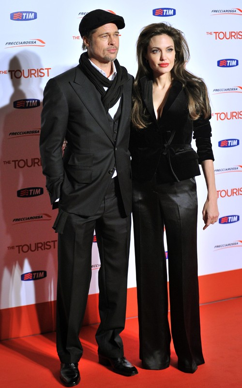 Angelina Jolie brad pitt The Tourist Rome Premiere