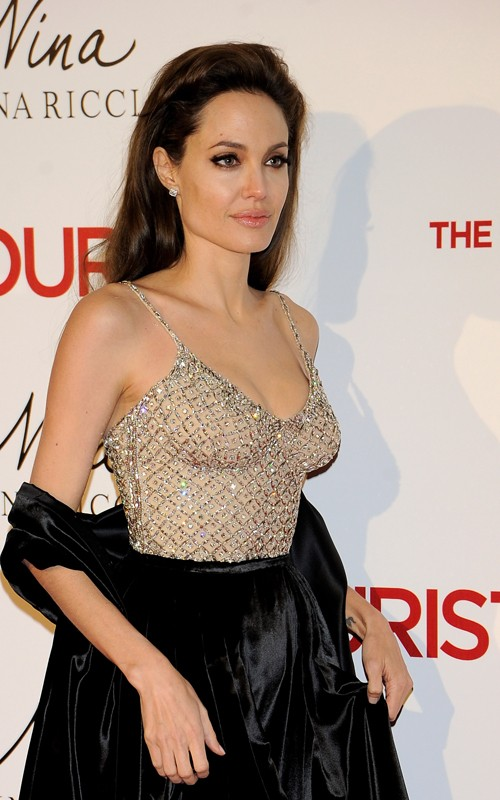 Angelina Jolie hairstyle makeup The Tourist Madrid Premiere