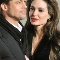 Angelina Jolie in Black suit at The Tourist Rome Premiere