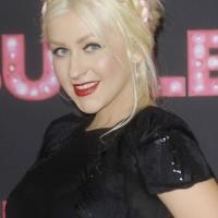 Christina Aguilera braided hairstyle Burlesque Berlin Premiere