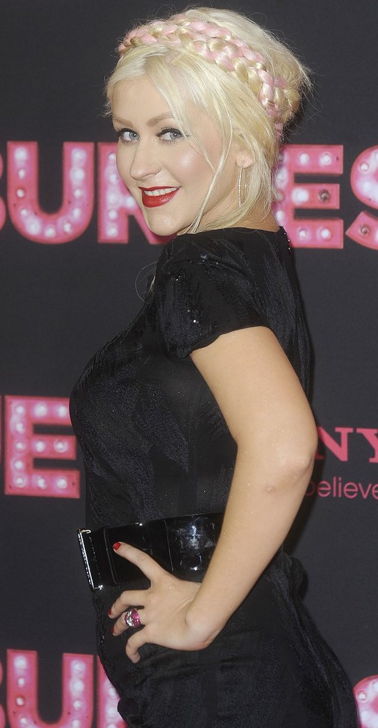 Christina Aguilera hair makeup Burlesque Berlin Premiere