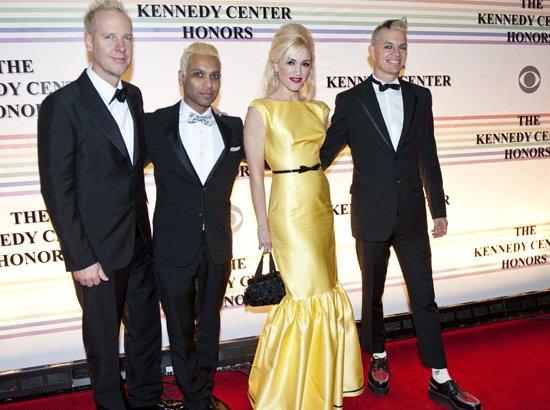 Gwen Stefani in prada dress with crew Kennedy Center Honors