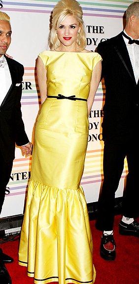 Gwen Stefani in yellow prada dress at Kennedy Center Honors