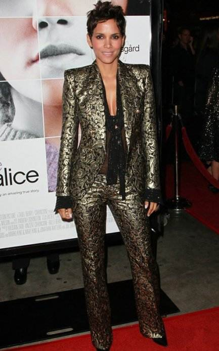 Halle Berry premieres Frankie and Alice in balmain suit