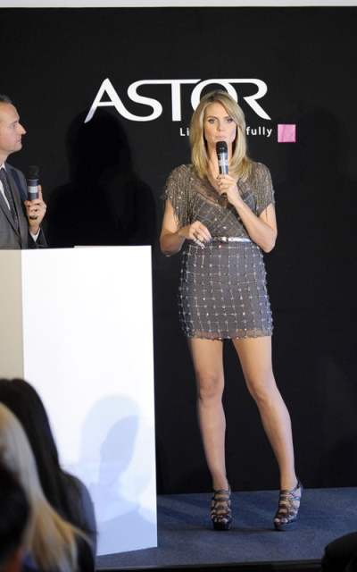 Heidi Klum at Astors cosmetic launch