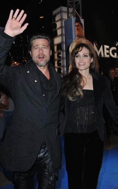 Jolie-Pitt at the Paris premiere of Megamind