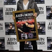 Justin Bieber at photocall for new album