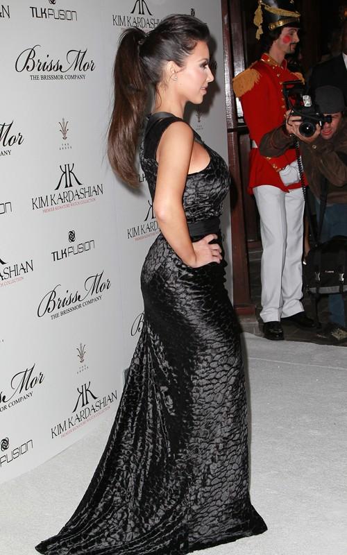 Kim Kardashian black gown
