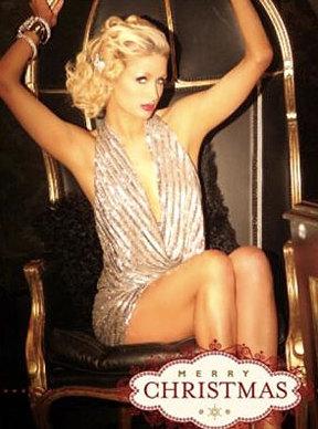 Paris Hilton red hot for Christmas