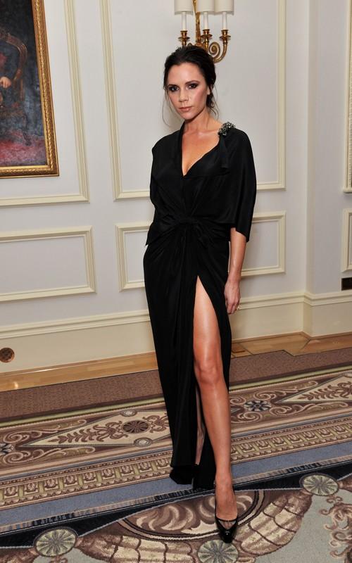 Victoria Beckham in black gown at the British Fashion Awards