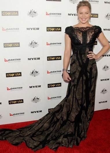 Abbie Cornish  Elie Saab at Black Tie Gala
