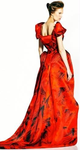 Alexander McQueen red gown