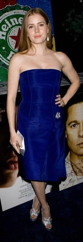 Amy Adams blue dress 2011 Critics Choice Awards