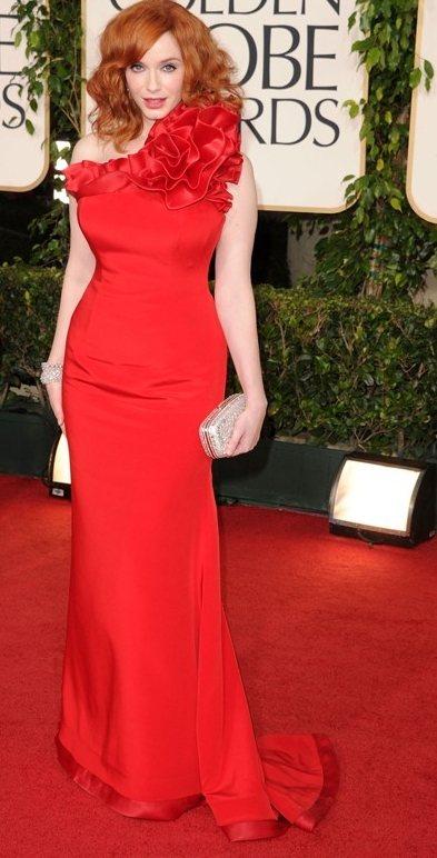 Christina Hendricks red gown 2011 Golden Globes Awards