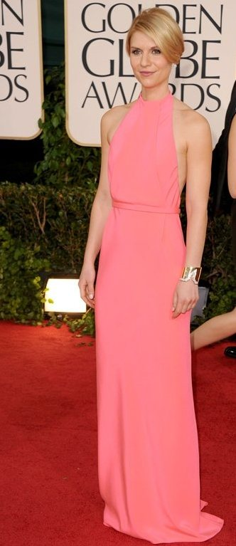 Claire Danes minimalist look at 2011 Golden Globe Awards