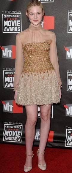 Elle Fanning dress 2011 Critics Choice Awards
