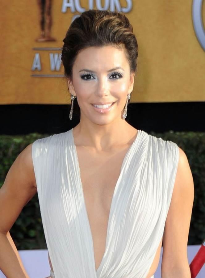 Eva Longoria hairstyle makeup 2011 SAG Awards