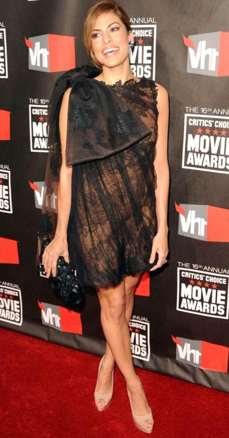 Eva black sheer dress 2011 Critics Choice Awards