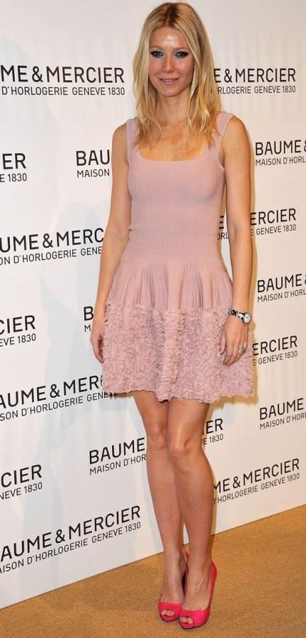 Gwyneth Paltrow pink at Jewelry Fair Switzerland