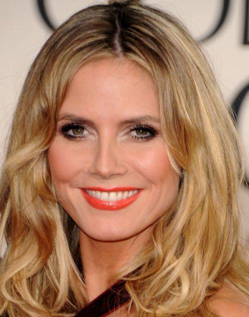 Heidi Klum haistyle makeup 2011 Golden Globes Awards