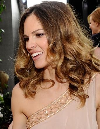 Hilary Swank hairstyle makeup 2011 SAG Awards