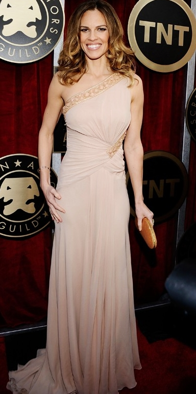 Hilary Swank in Versace at 2011 SAG Awards