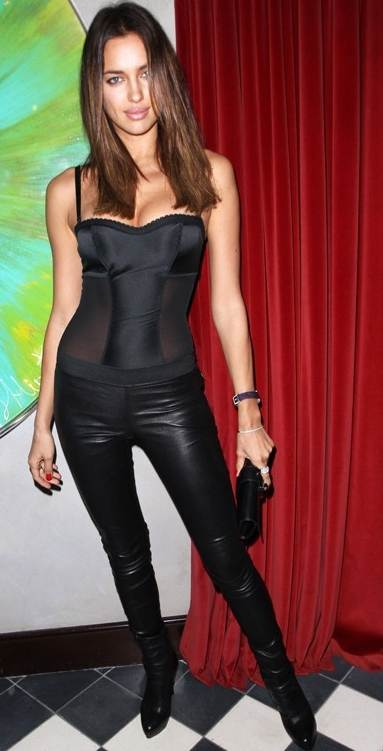 Irina Shayk super hot in black Capsule Collection launch