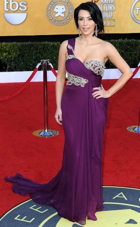 Kim Kardashian Marchesa gown 2011 SAG Awards