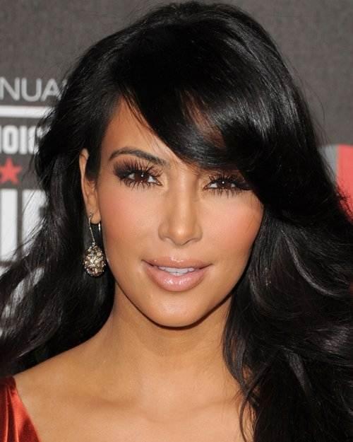 Kim Kardashian hairstyle makeup 2011 Critics Choice Awards