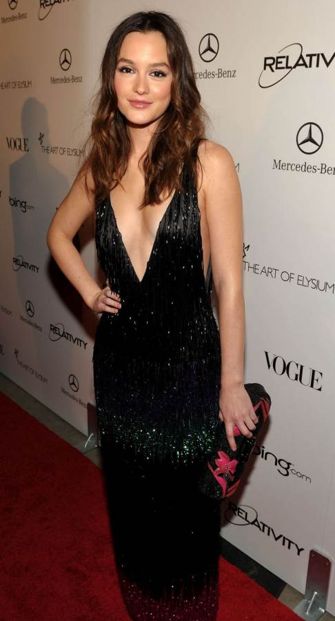 """Leighton Meester in LV at The 2011 Art of Elysium """"Heaven"""" Gala"""