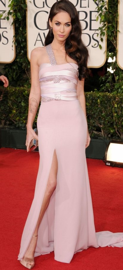 Megan Fox Armani dress 2011 Golden Globes Awards