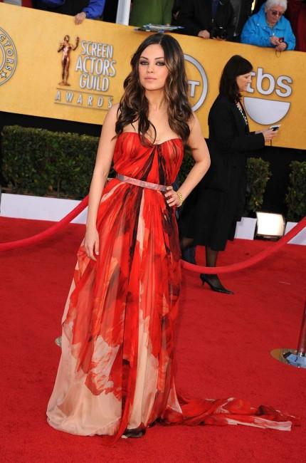 Mila Kunis Alexander McQueen gown 2011 SAG Awards