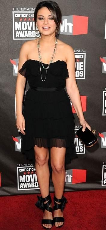 Mila Kunis black dress 2011 Critics Choice Awards
