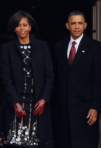 Mrs Obama in Roksanda Ilincic state meeting