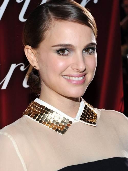Natalie Portman hairstyle makeup Palms Awards