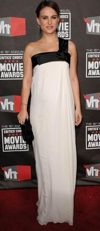 Natalie Portman white gown 2011 Critics Choice Awards