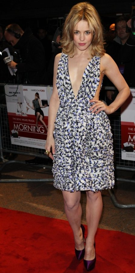 Rachel McAdams dress premiere Morning Glory London
