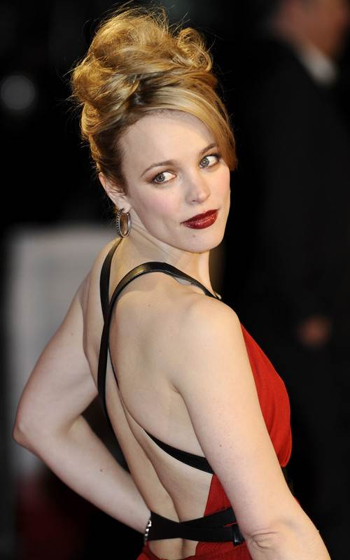 Rachel McAdams red gown at Morning Glory premiere